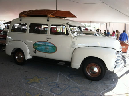 1951 Chevy Suburban Carryall – staging area prior to auction